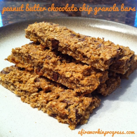 Peanut Butter Chocolate Chip Granola Bars | A Firework In ...